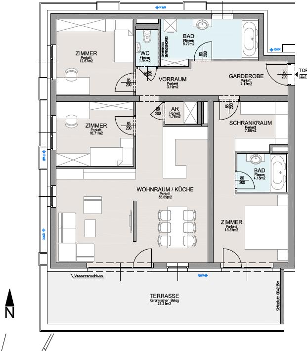 Landsitz Villach 4 Zimmer Gartenwohnung Nageler Immobilien